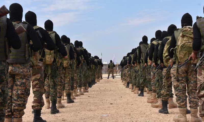 تدريب عناصر من الجيش الحر- 13 تشرين الثاني 2018 (الأناضول)