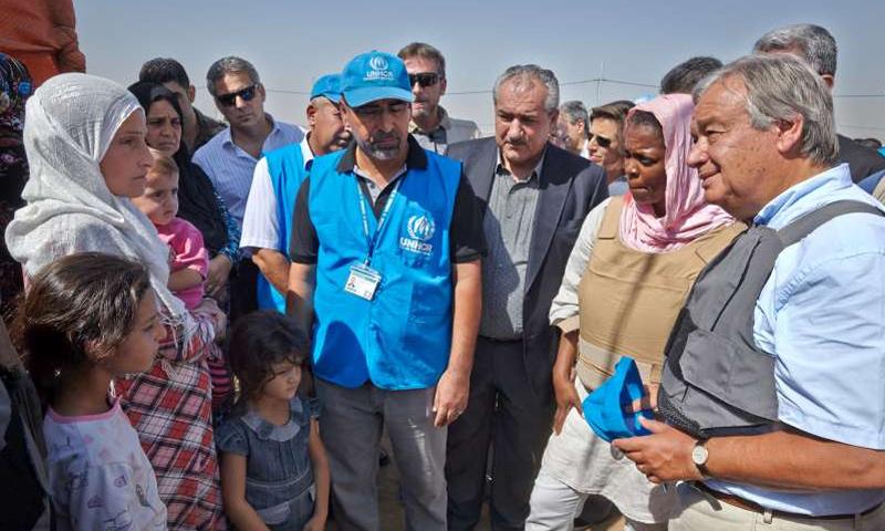 لاجئين سوريين في كردستان العراق عام 2013 (UNHCR)
