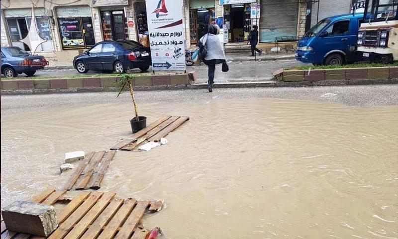 السيول في مصياف بحماة - 12 كانون الثاني 2018 (دمشق الآن)