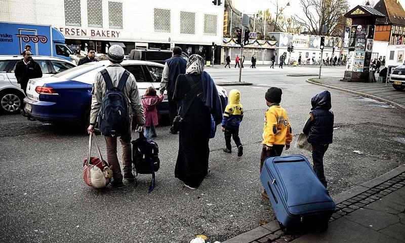 لاجئين سوريين في العاصمة الدنماركية (Ritzau Scanpix)