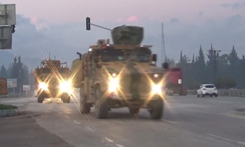 آليات عسكرية للجيش التركي في طريقها إلى الحدود السورية التركية - 12 من كانون الأول 2018 (TRT)