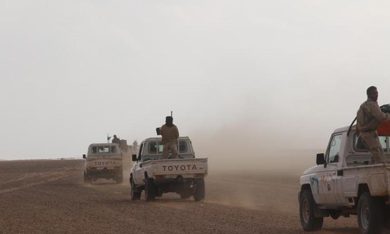 قوات من جيش مغاوير الثورة في محيط قاعدة التنف - (مغاوير الثورة)