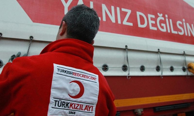 عنصر من الهلال الأحمر التركي - (TRTHABAR)