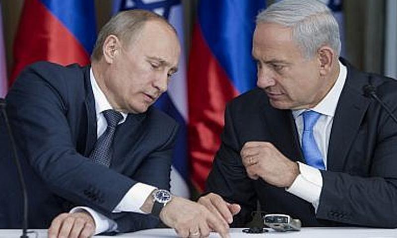 رئيس الوزراء الإسرائيلي بينيامن نتنياهو والرئيس الروسي فلاديمبر بوتين- 24 من كانون الأول 2018 (The Time of Israel)