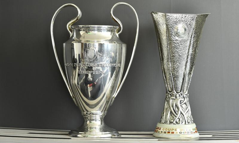 كأس الدوري الأوروبي وكأس دوري أبطال أوروبا (UEFA)