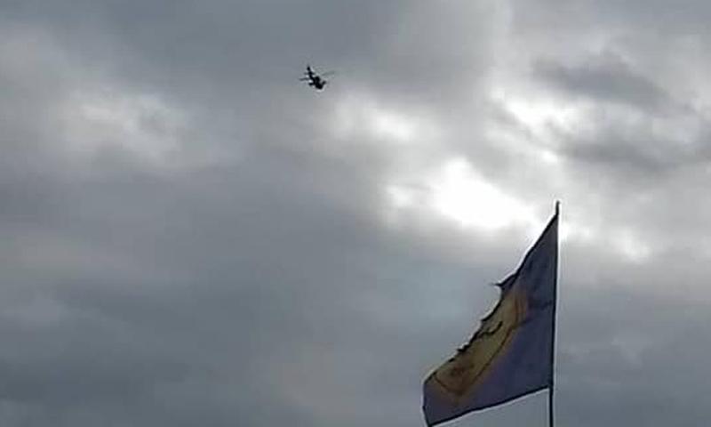 طائرة مروحية للتحالف في أدواء منبج - 28 من كانون الأول 2018 (مجلس منبج العسكري)
