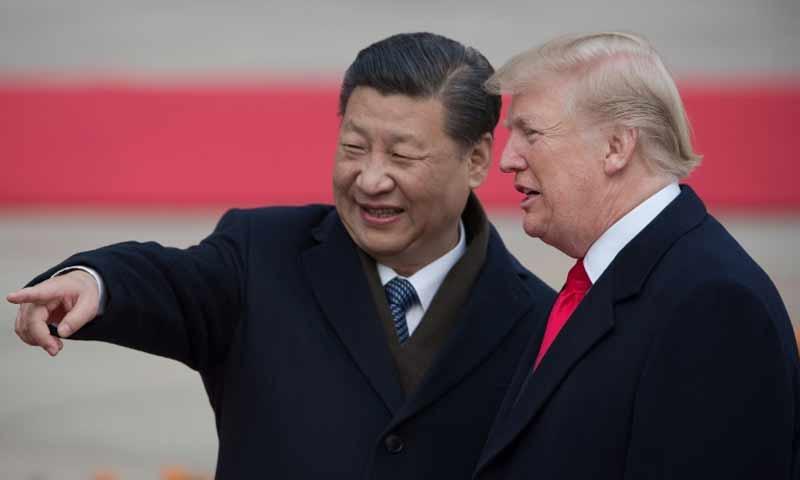 الرئيس الامريكي دونالد ترامب والرئيس الصيني شي جينبينغ (فرانس برس)