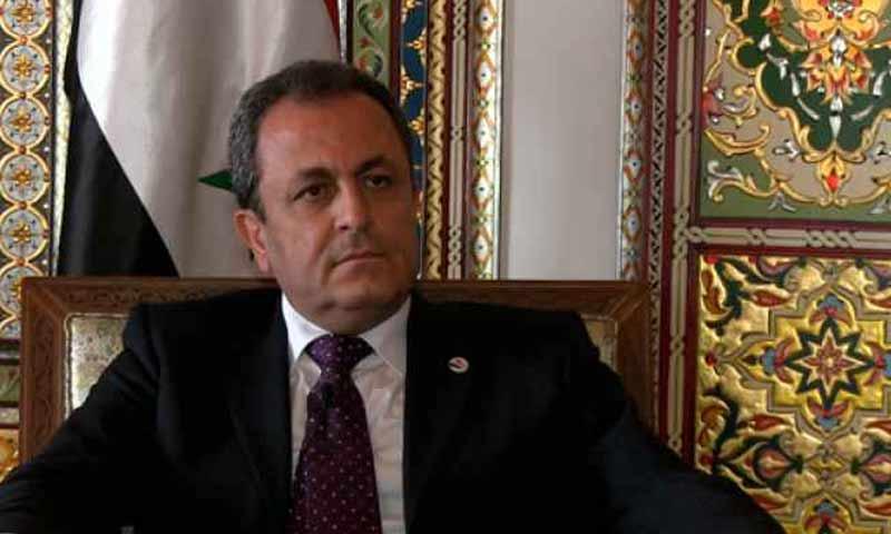 القائم بأعمال السفارة السورية في الأردن، أيمن علوش (موقع رؤية)