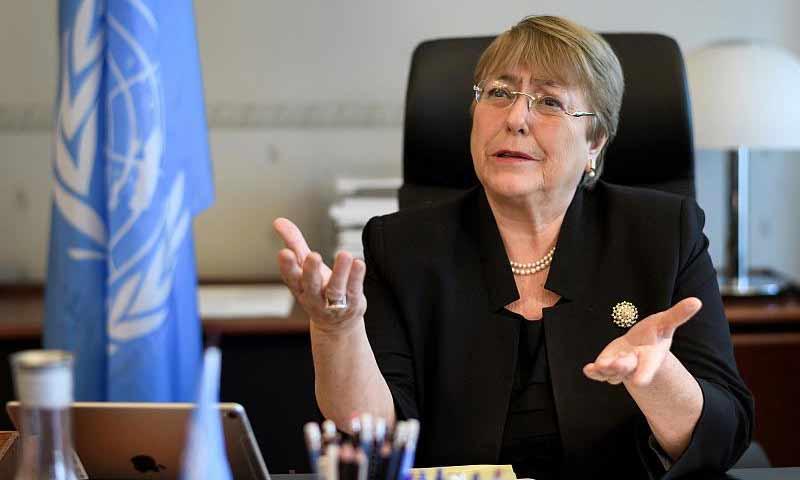 المتحدثة باسم مفضوية حقوق الانسان التابعة للأمم المتحدة، ميشيل باشيليه (Euronews)