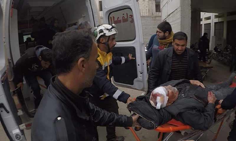 إصابة رجل مسن وطفلين بعد قصف صاروخي لقوات الأسد استهدف منازل المدنيين في بلدة التح جنوبي إدلب 29 تشرين الثاني 2018 (الدفاع المدني السوري)