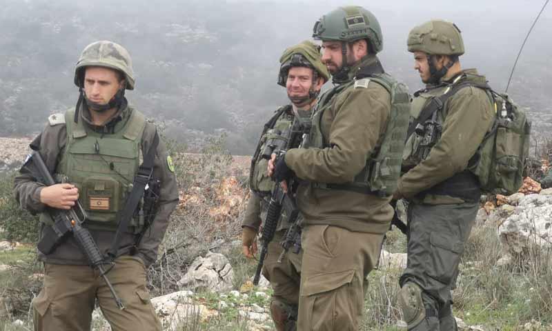 جنود لبنانيون على بالقرب من الحدود الإسرائيلية لمراقبة تحركات الجيش الاسرائيلي 8 كانون أول 2018 (الإعلام الحربي المركزي)