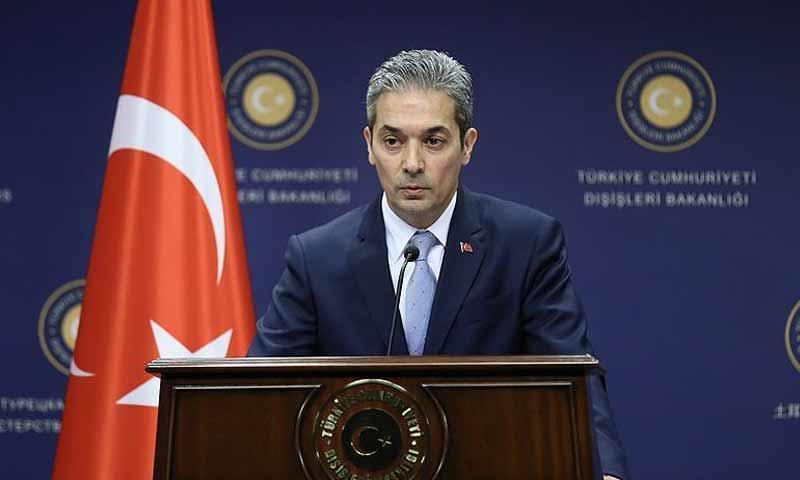 المتحدث باسم وزارة الخارجية التركية، حامي أقصوى (الأناضول)