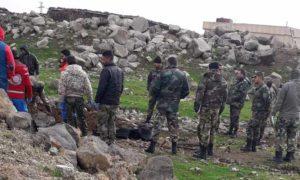 انتشال جثامين لعناصر قوات الأسد في ريف القنيطرة 17 كانون الأول 2018 (القنيطرة اليوم)