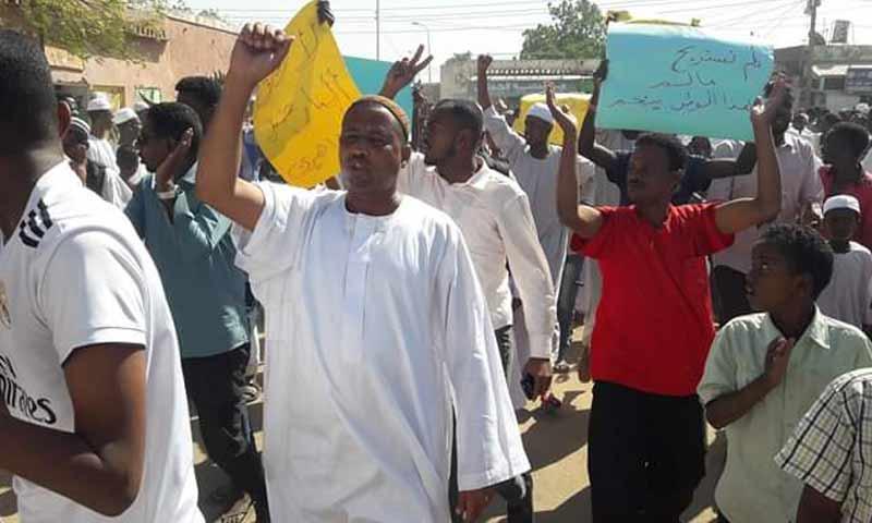 مظاهرات في العاصمة السودانية في جمعة الشهداء 28 كانون الأول 2018 (سوداني نيوز)