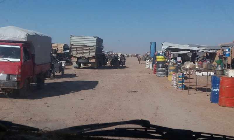 مخيم الركبان على الحدود السورية الأردنية كانون أول 2018 (أسواق الركبان فيس بوك)