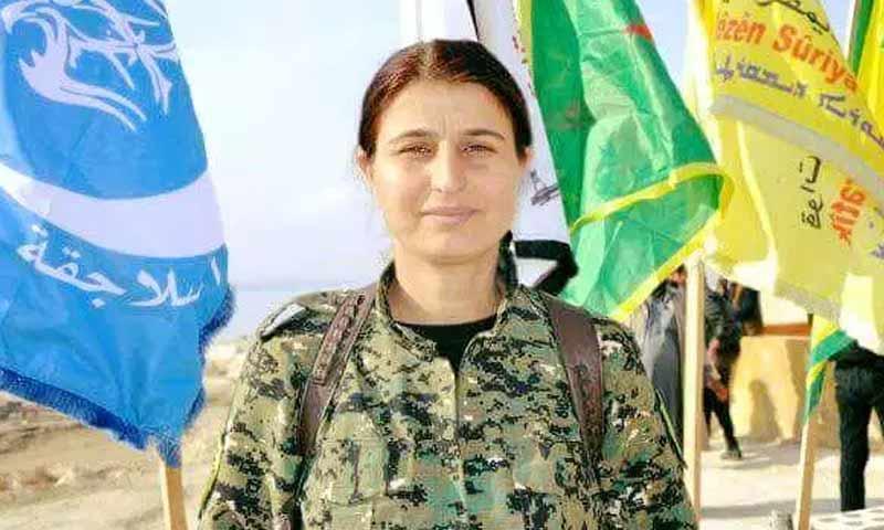 الناطقة باسم قوات سوريا الديمقراطية جيهان شيخ أحمد (موقع روداو)