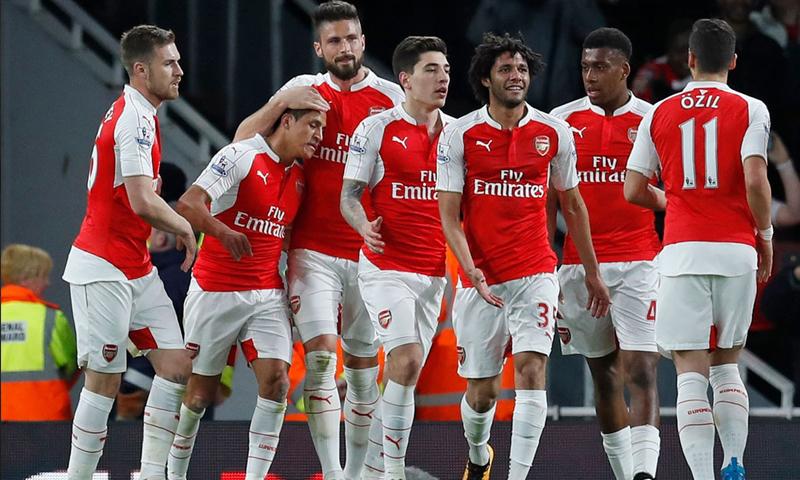 نادي أرسنال الإنكليزي في الدوري الإنكليزي الممتاز (رويترز)