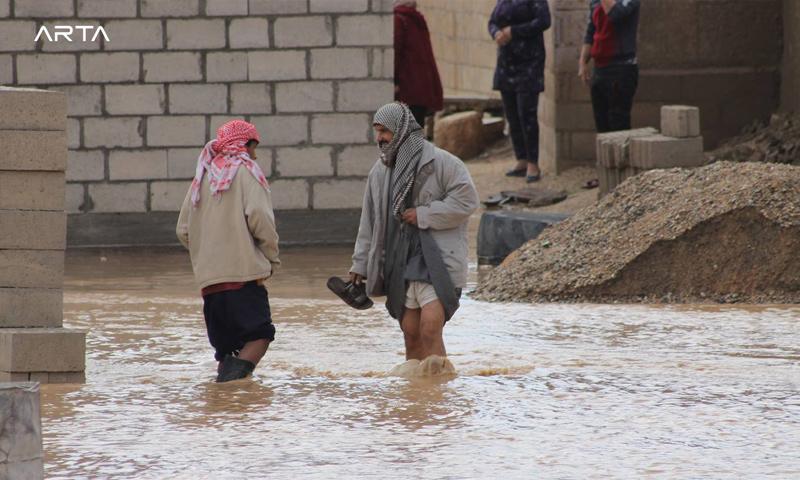 فيضانات في مدينة عامودا - 1 من كانون الأول 2018 (آرتا إف إم)