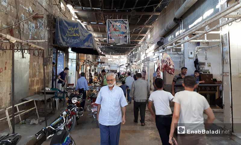 السوق المركزي في مدينة إعزاز شمال حلب – 13 أيلول 2017 (عنب بلدي)