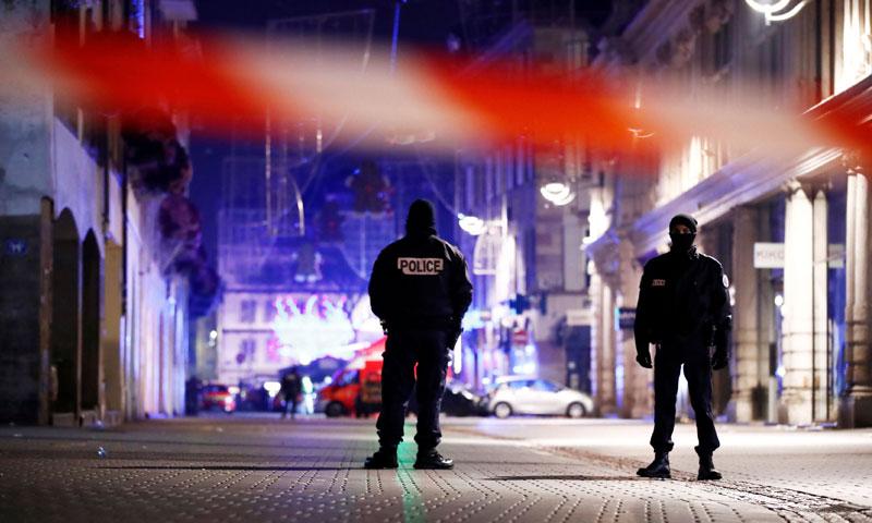 الانتشار الأمني في ستراسبورج (AFP)
