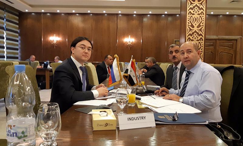 اجتماع اللجنة السورية الروسية المشتركة في العاصمة السورية دمشق-14 من كانون الأول 2018 (سبوتنيك)اجتماع اللجنة السورية الروسية المشتركة في العاصمة السورية دمشق-14 من كانون الأول 2018 (سبوتنيك)