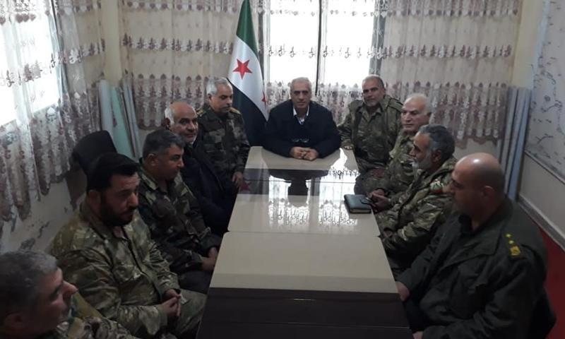 """اجتماع """"الحكومة السورية المؤقتة"""" مع وزارة الدفاع- 17 من كانون الأول 2018 (الحكومة المؤقتة)"""