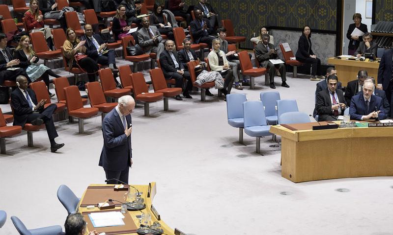 الإحاطة الأخيرة لدي ميستورا بشأن سوريا- 20 كانون الأول 2018 (UN)