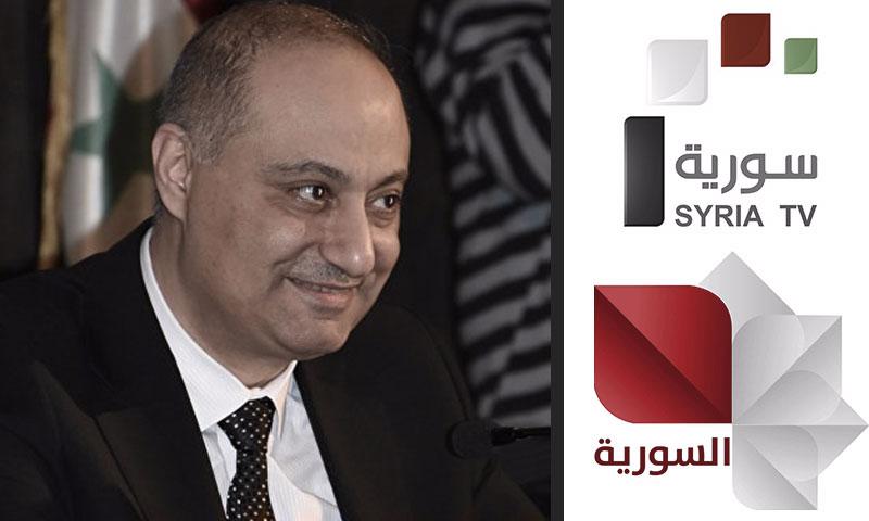 وزير الإعلام السوري واللوغو القديم والجديد (تعديل عنب بلدي)