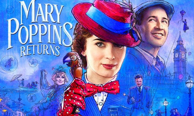 """ملصق فيلم """"عودة ماري بوبينز"""" (يوتيوب)"""