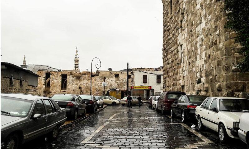 الأمطار في دمشق (فيس بوك عدسة شاب دمشقي)