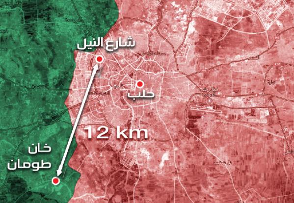 خريطة تظهر أبعاد المنطقة التي قالت روسيا إن منصات إطلاق الهاون كانت منصوبة فيها (عنب بلدي)
