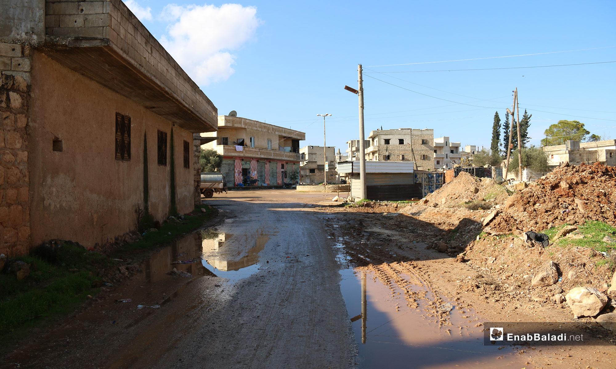 بلدة الفوعة بريف إدلب - 24 من كانون الأول 2018 (عنب بلدي)