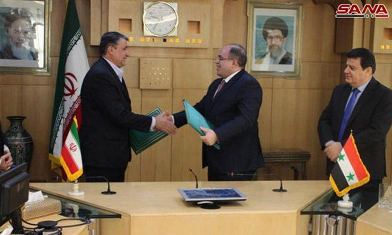 توقيع اتفاقية تعاون اقتصادي طويلة الأمد بين النظام وإيران- 30 كانون الأول 2018 (سانا)