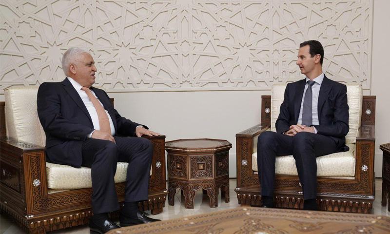 مستشار الأمن الوطني العراقي يلتقي رئيس النظام السوري بشار الأسد- 29 من كانون الأول 2018 (واع)