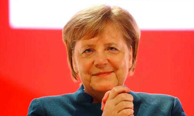المستشارة الألمانية أنجيلا ميركل في خطاب وداع حزبها- 7 كانون الأول 2018 (DPA)