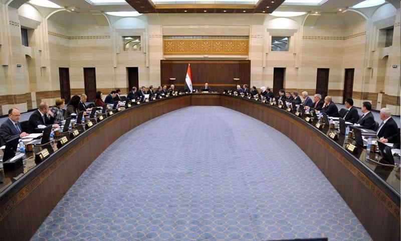 اجتماع حكومة النظام 30/12/2018 (فيس بوك صفحة رئاسة مجلس الوزراء)