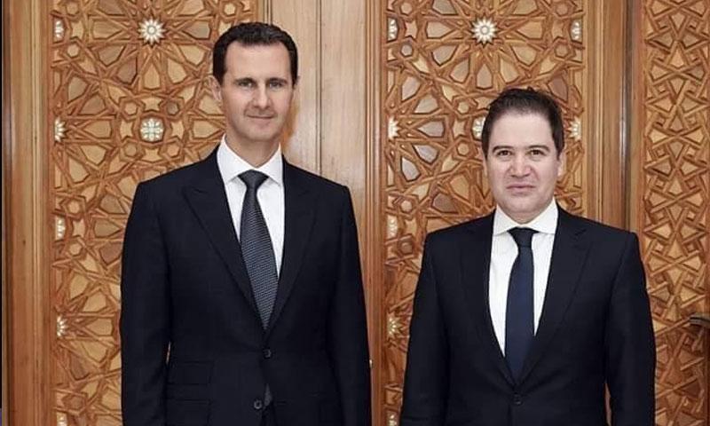 بشر يازجي ورئيس النظام بشار الأسد (فيس بوك)