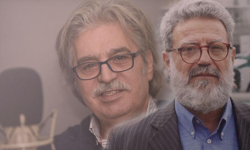 الكاتب حسن م يوسف والممثل عباس النوري (تعديل عنب بلدي)