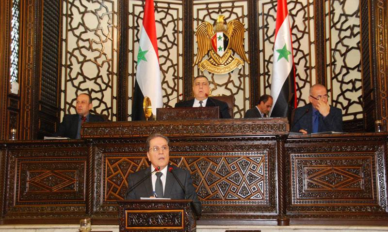 وزير العدل خلال جلسة مجلس الشعب 17 كانون الأول 2018 (فيس بوك مجلس الشعب)