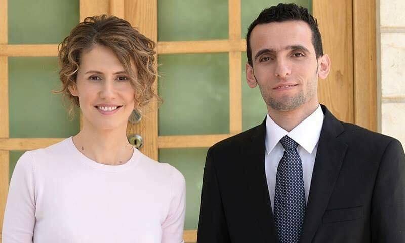 وسام الطير وزوجة رئيس النظام السوري أسماء الأسد (وسام الطير فيس بوك)