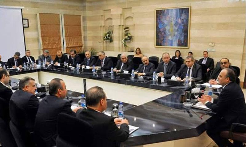 مجلس الوزراء في حكومة النظام السوري (قيس بوك)