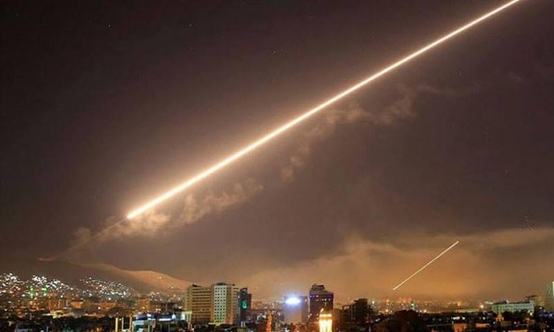 القصف الإسرائيلي على محيط دمشق - 21 من كانون الثاني 2018 (سانا)
