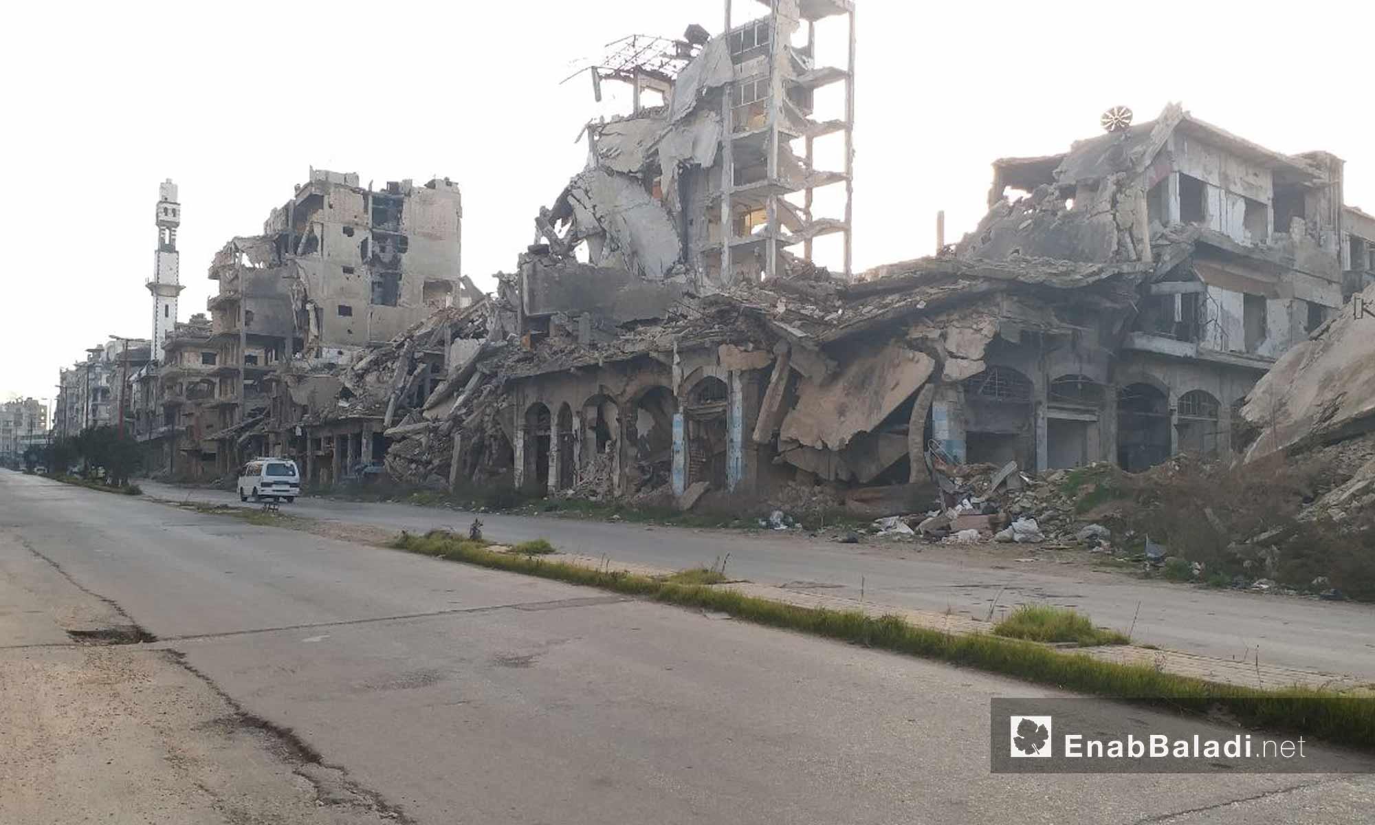 حي القصور في مدينة حمص - 24 من كانون الثاني 2019 (عنب بلدي)