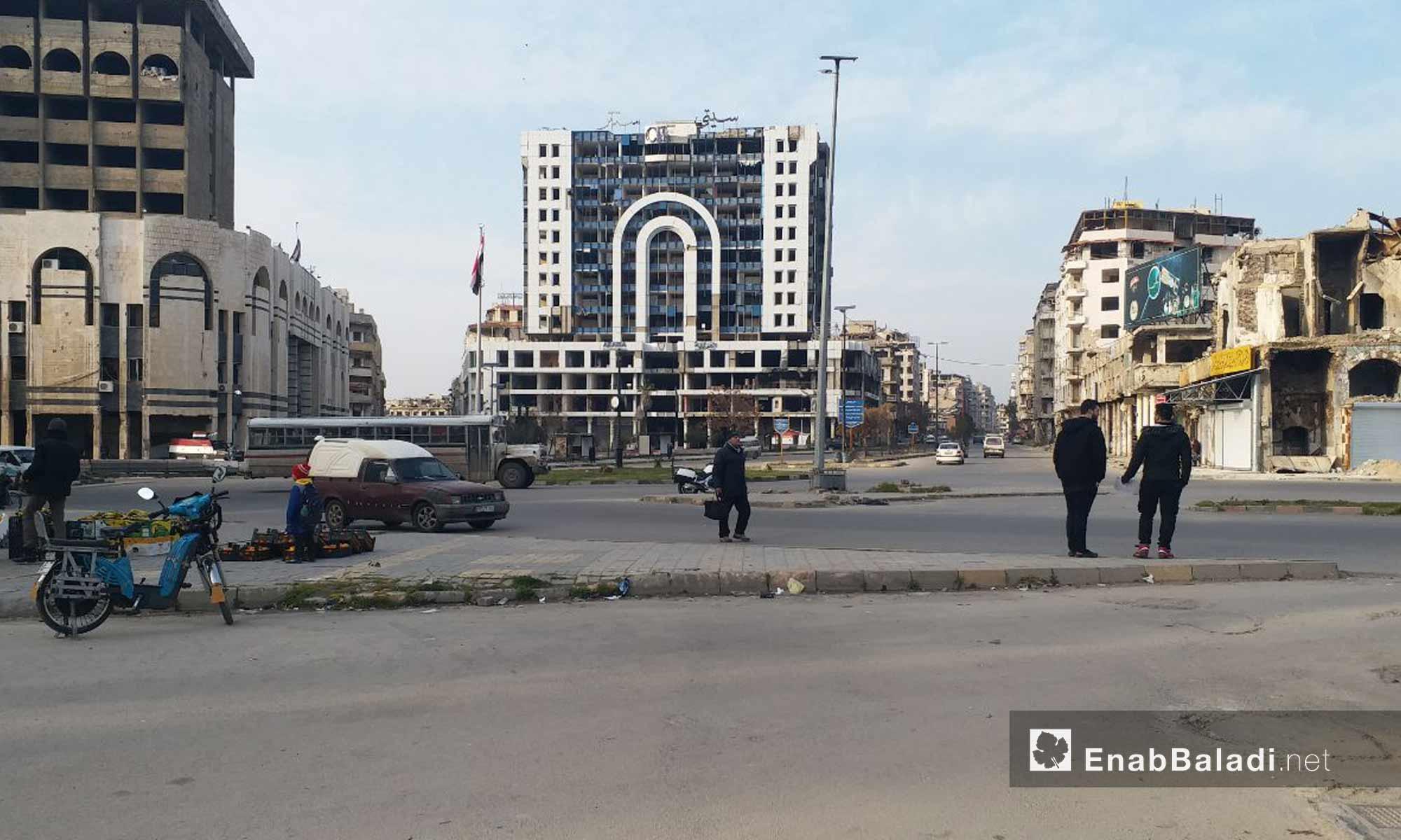 مجمع سيتي سنتر وسط مدينة حمص - 24 من كانون الثاني 2019 (عنب بلدي)