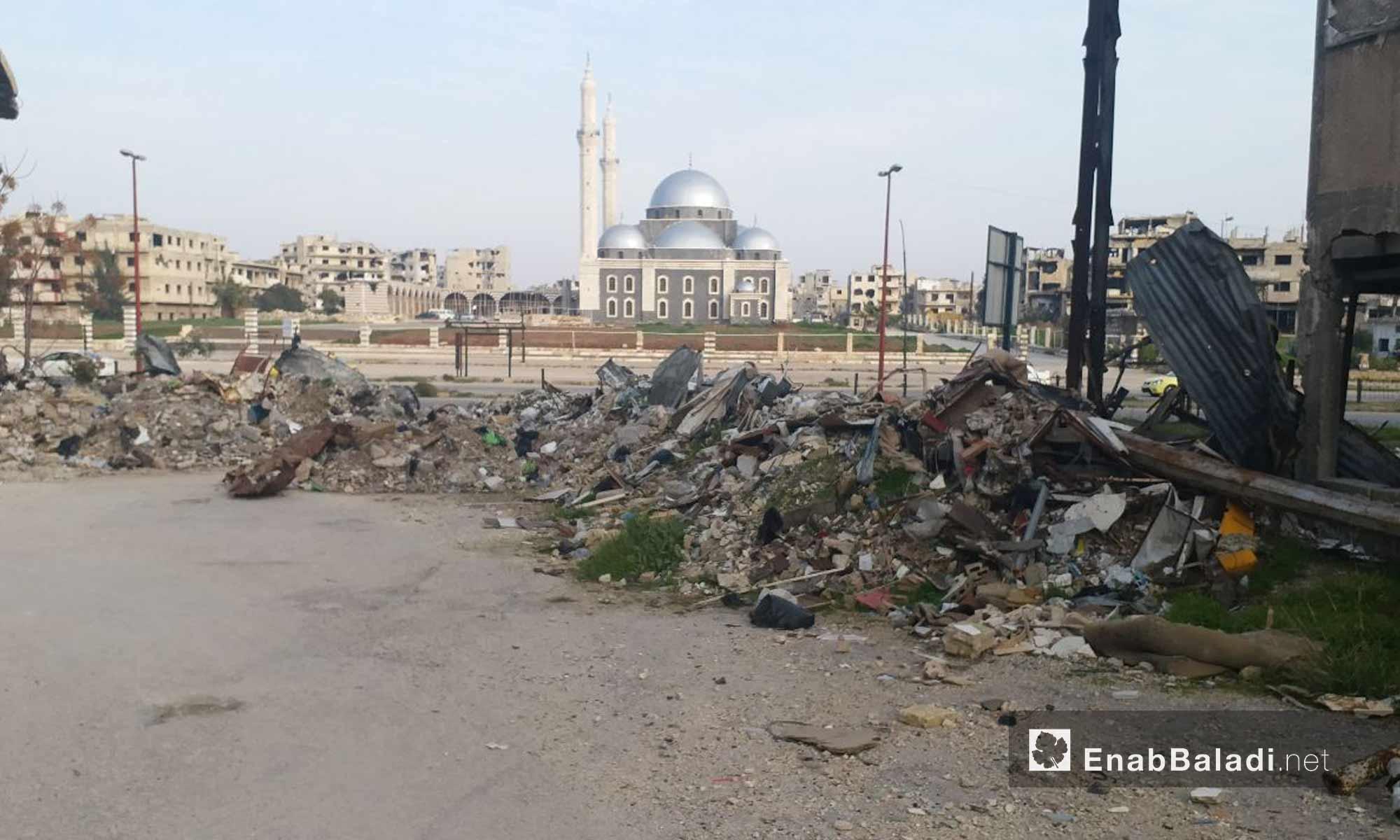 جامع خالد بن الوليد في مدينة حمص - 24 من كانون الثاني 2019 (عنب بلدي)