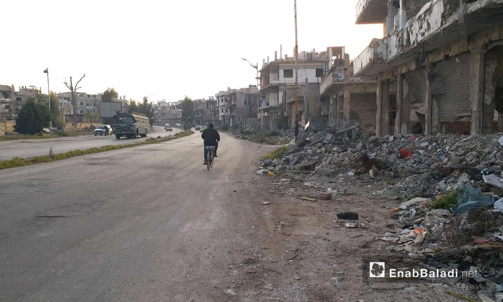 أحياء القصور في مدينة حمص - 24 من كانون الثاني 2019 (عنب بلدي)