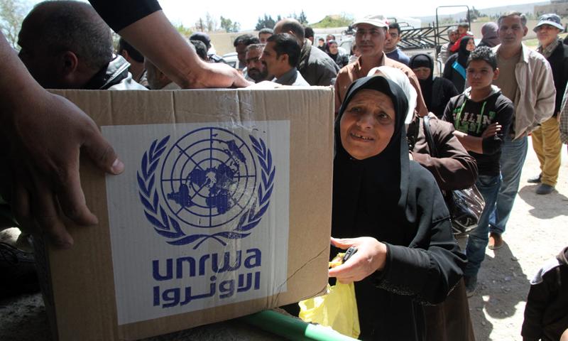 توزيع منظمة الأونروا مساعدات للاجئين الفلسطنين في الضفة الغربية كانون الأول 2018 (منظمة الأونروا)