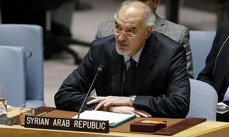 مندوب سوريا في الأمم المتحدة، بشار الجعفري 22 من كانون الثاني 2018 (CNN)