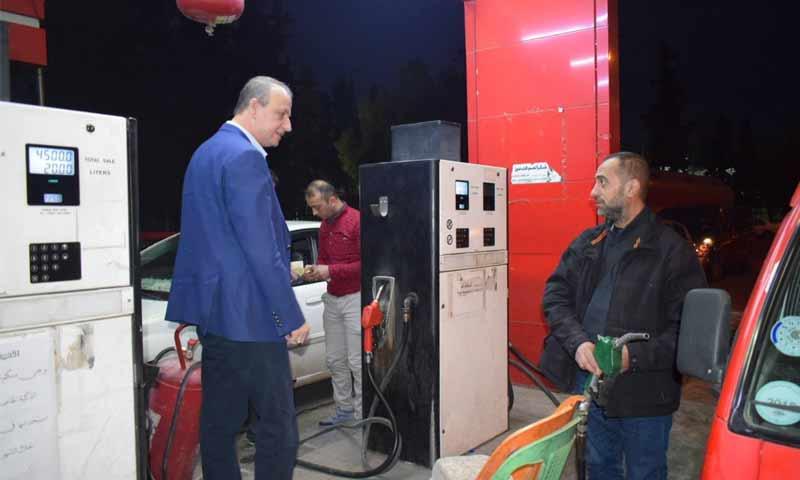 وزير النفط والثروة المعدنية علي غانم يتفقد محطات وقود دمشق 3 كانون الثاني 2019 (وزارة النفط والثروة المعدنية)