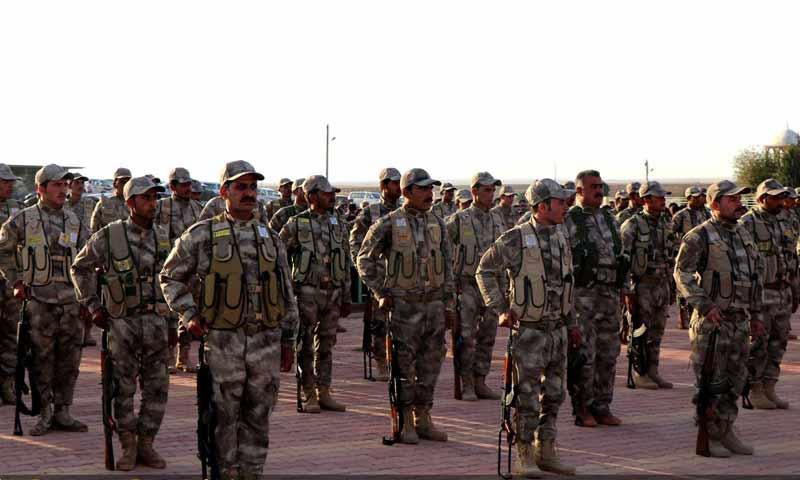 قوات الدفاع الذاتي في مدينة القامشلي الخاضعة لسيطرة الإدارة الذاتية تشرين الأول 2018 (هيةئ الدفاع والحماية الذاتية)